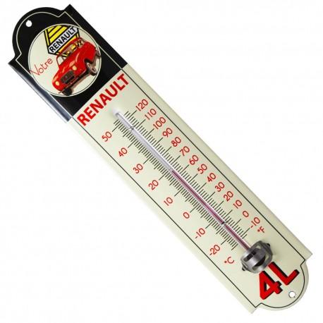 Thermomètre émaillé bombé hauteur 30cm :  RENAULT 4L