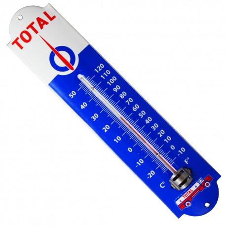 Thermomètre émaillé bombé hauteur 30cm : TOTAL