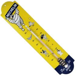 Thermomètre émaillé bombé hauteur 42cm : MICHELIN PAR TOUT LES TEMPS