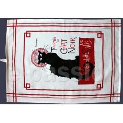 Torchon coton Tournée du chat noir.