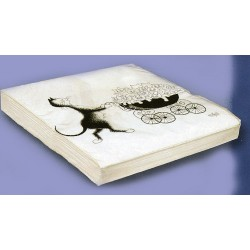 20 Serviettes papier collection chat par Dubout dim : 33x33cm