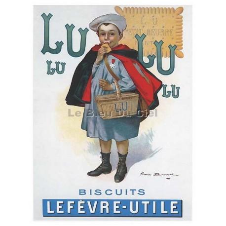 Carte Postale au format 15x21cm Enfant LU, biscuits Lefèvre Utile