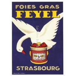 Carte Postale au format 15x21cm Foie gras Feyel, Strasbourg