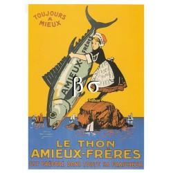 Carte Postale le thon Amieux-frères