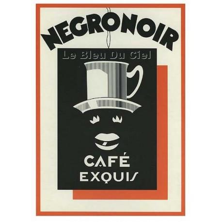 Carte Postale au format 15x21cm Café Négronoir