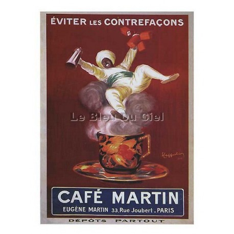 Carte Postale au format 15x21cm Café Martin