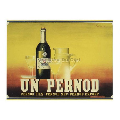 Carte Postale au format 15x21cm Un PERNOD, Pernod Fils