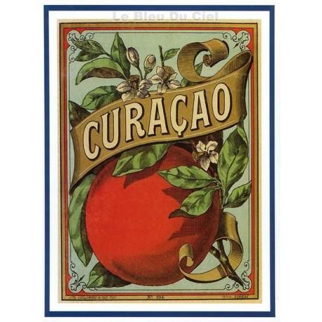 Carte Postale au format 15x21cm  sirop Curacao
