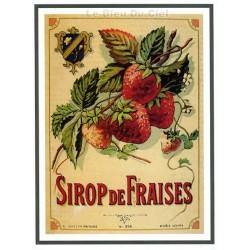Carte Postale au format 15x21cm Sirop de Fraises