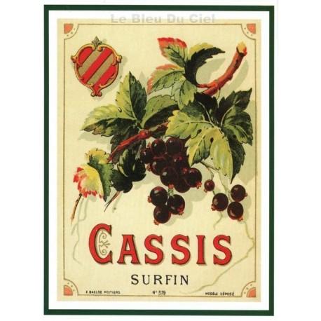 Carte Postale au format 15x21cm Sirop de Cassis