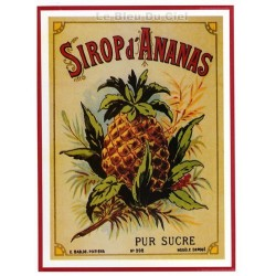 Carte Postale au format 15x21cm  Sirop Ananas
