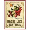 Carte Postale au format 15x21cm Sirop de Groseille fantaisie