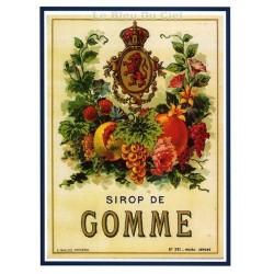Carte Postale au format 15x21cm  Sirop de Gomme