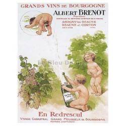 Carte Postale au format 15x21cm Albert Brenot, grands vins de Bourgogne