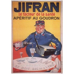 Carte Postale au format 15x21cm Jifran, Apéritif au Goudron