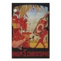 Carte Postale au format 15x21cm Rhum Saint Christophe
