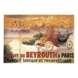 Carte Postale au format 15x21cm Arrivée du Beyrouth à Paris, appéritif tonique