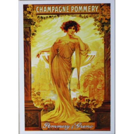 Carte Postale format 15x21cm Champagne Pommery