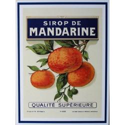 Carte Postale au format 15x21cm  sirop de Mandarine
