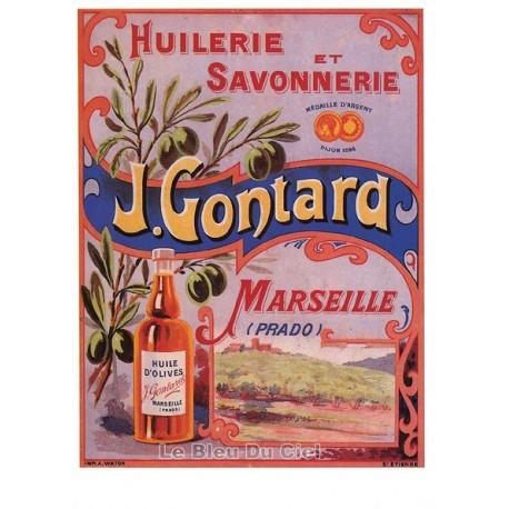 Carte Postale au format 15x21cm Huilerie et Savonnerie J.Gontard