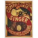 Carte Postale au format 15x21cm Machine à coudre Singer