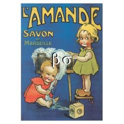 Carte Postale Savon l'amande, Marseille