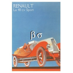 Carte Postale :  RENAULT la 40cv Sport