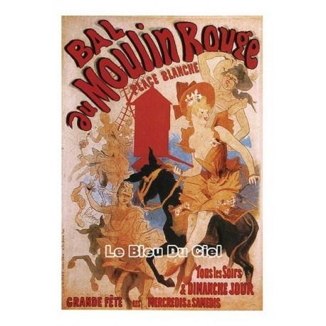 Carte Postale au format 15x21cm Bal du Moulin Rouge