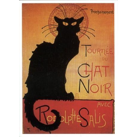 Carte Postale  Tournée du chat noir