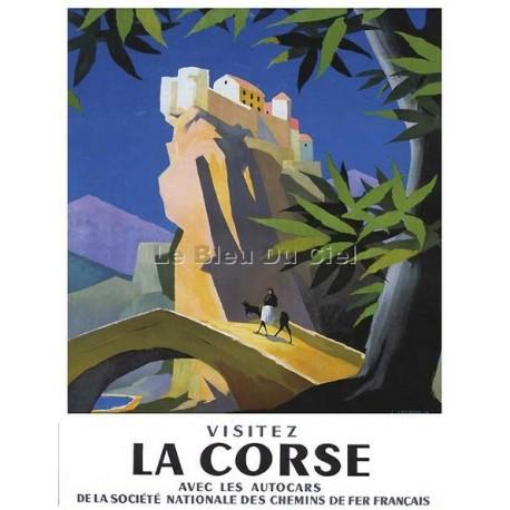 Carte Postale au format 15x21cm Visitez la Corse