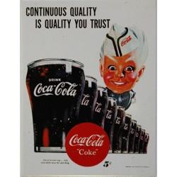 """Magnet tôle dimension 6x8cm plat Coca-Cola coke"""""""