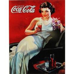 Magnet tôle plat dimension 6x8cm coca-cola