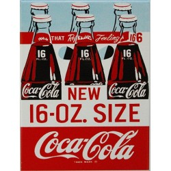 Magnet tôle dimension  6x8cm plat Coca-Cola  16-O