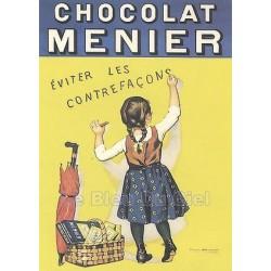 MAGNET EMAILLE bombé Dimension 6x8cm chocolat MENIER