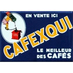 plaques émaillées : Magnet émaillé plat 7X5cm Cafexqui