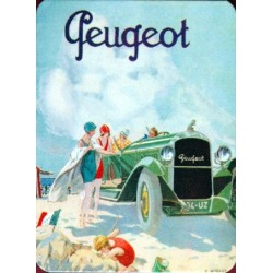 Décoration cuisine : Magnet tôle dimension  6x8cm plat Peugeot