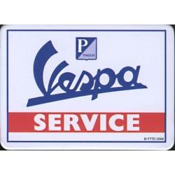 Magnet tôle, plat dimension 6x8cm: Vespa Service.