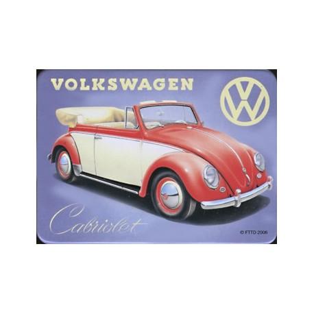 Magnet tôle, plat  dimension 6x8cm  Volkwagen cabriolet