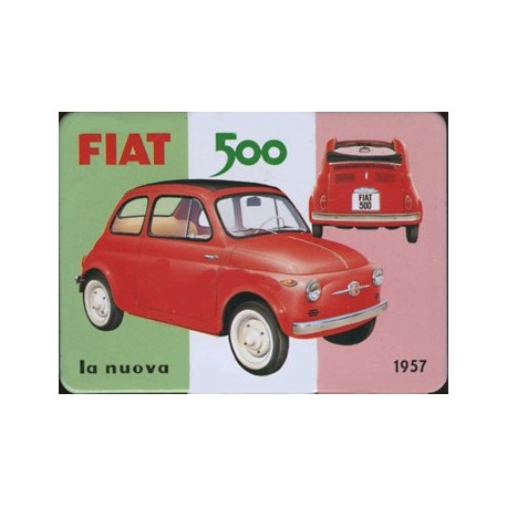 magnet t le plat dimension 6x8cm fiat 500. Black Bedroom Furniture Sets. Home Design Ideas