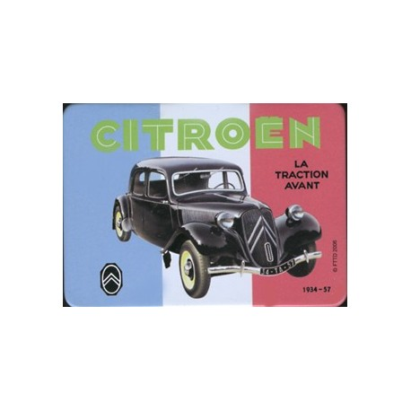 Magnet tôle, plat  dimension 6x8cm  Traction Citroën