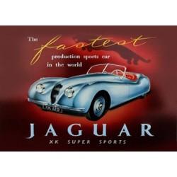 Magnet tôle, plat dimension 6x8cm Jaguar xk super sport