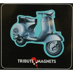 Magnet tôle, plat  dimension 7x8cm Vespa gs