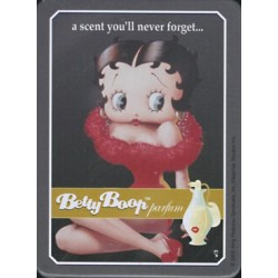 Magnet tôle, plat dimension 6x8cm Betty boop parfum