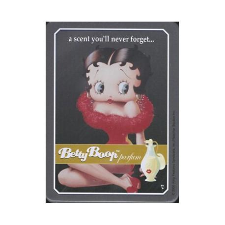 Magnet tôle, plat dimension 6x8cm Betty boop parfum