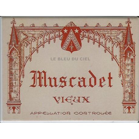 cuisine :Magnet tôle dimension 6x8cm plat : Vin Muscadet