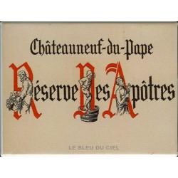 Décoration cuisine : Magnet tôle dimension 6x8cm plat Vins Réserve des Apôtres. Chateauneuf du Pape