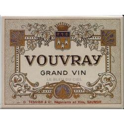 Décoration cuisine : Magnet tôle dimension 6x8cm plat Vins de Saumur Vouvray
