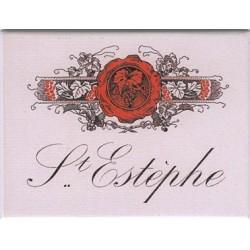 Décoration cuisine :Magnet tôle dimension 6x8cm plat : Vin Saint Estèphe