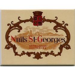 Décoration cuisine : Magnet tôle dimension  6x8cm plat : Vin Nuits Saint Georges