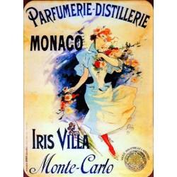 Magnet tôle dimension 6x8cm plat parfumerie distillerie Monaco